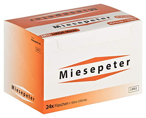 Miesepeter Likör Minis - IBO Scheißlaune-Weg 800 akut (Maracuja + Vodka, 24 x 20ml im Display) - 4