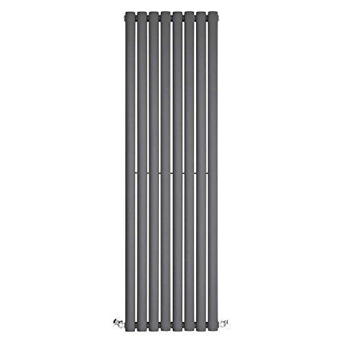 BestBathrooms Design-Heizkörper Vertikal Anthrazit - 1400 x 472 mm - Premium Paneelheizkörper für Zentralheizung - Einlagig - Perfekt für Küche, Bad & Wohnzimmer