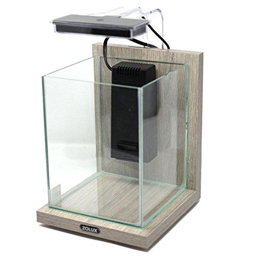 Acquario in kit Aquaya Jalaya Zebrano Grigio 9,3 l Zolux 307180