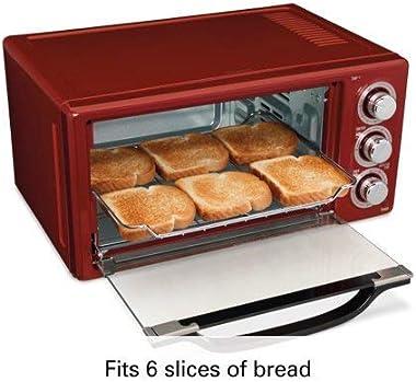 Hamilton Beach 6 Slice Toaster Convection/Broiler Oven | Red Model# 31514