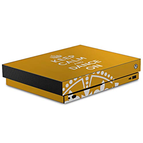 DeinDesign Skin kompatibel mit Microsoft Xbox One X Aufkleber Folie Sticker Keep Calm Tanzen Dance