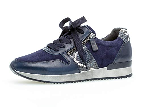 Gabor Damen Sneaker 33.420, Frauen Low-Top Sneaker,Halbschuh,Schnürschuh,Strassenschuh,Business,Freizeit,River Kombi,40 EU / 6.5 UK