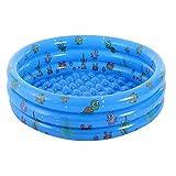 Tenwan Piscina inflable redonda para bebé, portátil, inflable, para niños, piscina, inflable, para niños (130 x 40 cm), color azul