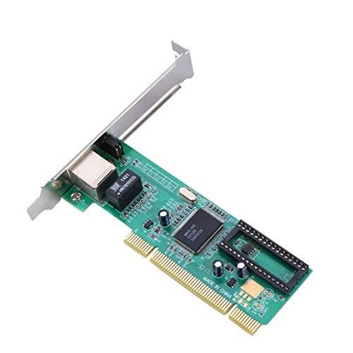 Hyuduo1 Gigabit-Ethernet-Karte, PCI 8169 PCI-Netzwerkkarte mit einem Port 10/100/1000 Mbit/s Gigabit-Ethernet, Netzwerkkarte, PCI-E-Netzwerkkarte mit Hochleistungs-/Niedrigprozessor