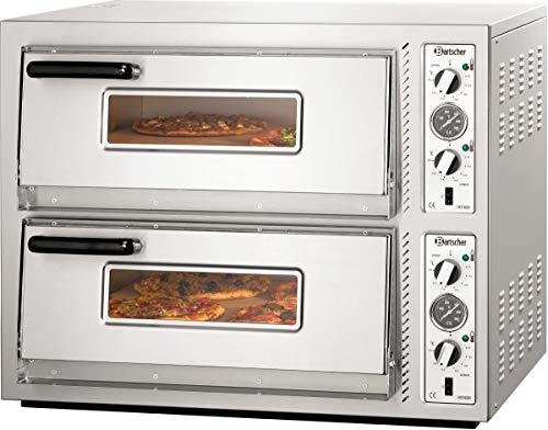 Horno para pizza doble NT 622 T, 10 kW - Bartscher 2002095