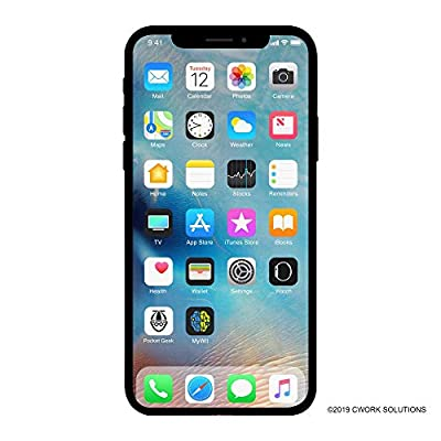 Apple iPhone X, 64GB, Silver - for AT&T/T-Mobile (Renewed)