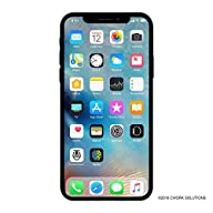 Apple iPhone X, 64GB, Silver - For AT&T (Renewed) Front Screen Display