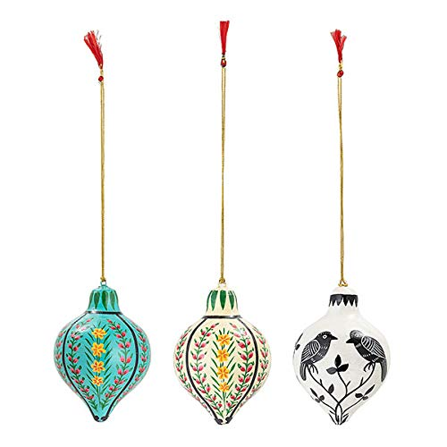 Bloomingville - Ornament/Dekohänger - Papier - Multi-Color - Ø7cm x H: 10cm - 3er-Set