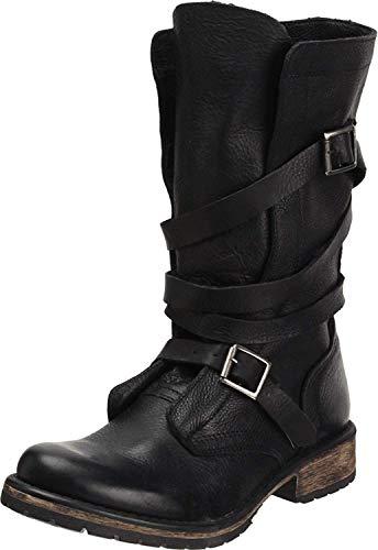 Steve Madden Women's BANDDIT, Black Leather, 6 M US