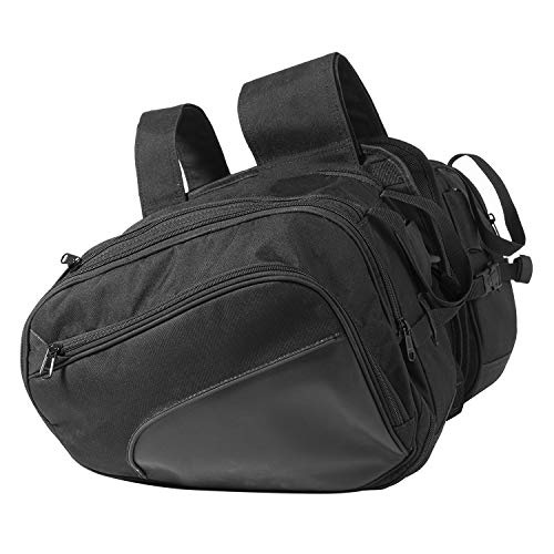 NOMAD USA Universal Reinforced Cordura Throw Over Motorcycle Saddlebags for Sports Bikes