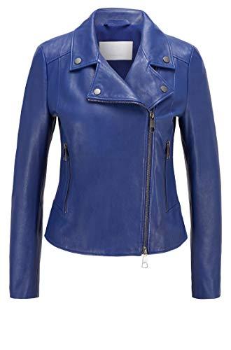 BOSS Womens C_Sajuana1 10232681 01 Leather Jacket, Dark Purple501, 32