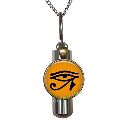 AllGlassCharm Ojo egipcio de Ra URN Cremación URN Collar-Egipto Religión-Cleopatra Joyería,AS0266