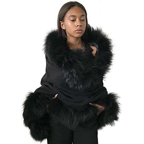 Palantines Austin Mall Cape cashmere Natural trim fox fur Latest item