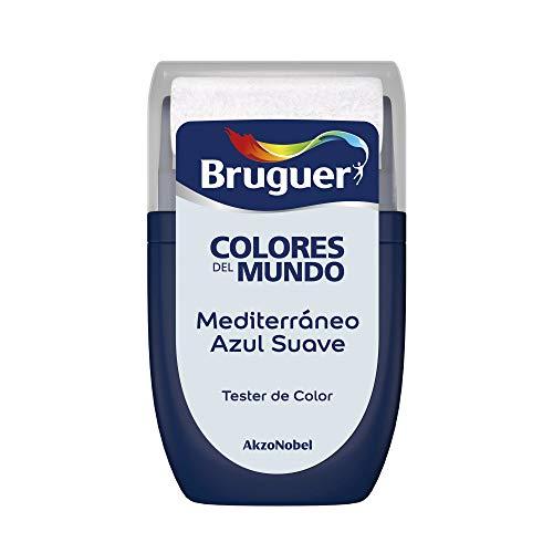 Bruguer Tester Colores del Mundo Pintura para paredes monocapa Mediterráneo Azul Suave, 0.030 litros