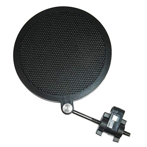 milisten Microfoon Pop Filter Schild Mic Pop Filter Pop Scherm Voor Uitzending Microfoon (Zwart Klein)