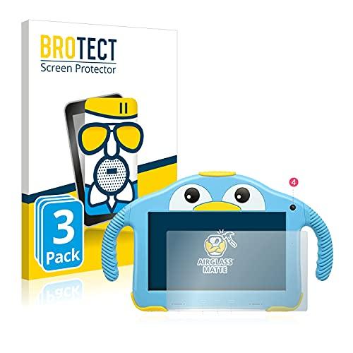 BROTECT Protector Pantalla Cristal Mate Compatible con Yenock MID-1013 Kids Tablet 7' Protector Pantalla Anti-Reflejos Vidrio (3 Unidades)