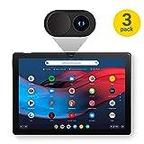 Olixar - Copertura per webcam a scorrimento per proteggere la privacy, per laptop, tablet e smartphone, confezione da 3