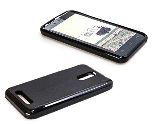 caseroxx TPU-Hülle & Bildschirmschutzfolie für Archos 45 Neon, Set (TPU-Hülle in schwarz)