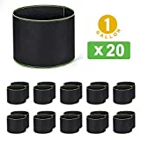 Delxo 20-Pack 1 Gallon Grow Bags Heavy Duty Aeration Fabric Pots Thickened Nonwoven Fabric Pots Plant Grow Bags