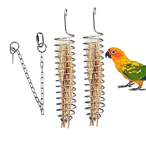 Xhuidz Papegaaienvoermand, roestvrijstalen papegaaivogelvoedermand, vogelvoerhouder, papegaaienfruitmand…