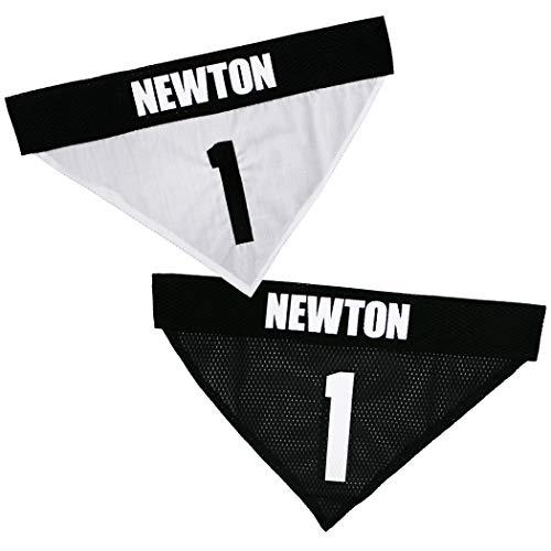 NFLPA REVERSIBLE DOG BANDANA - CAM NEWTON #1 Pet BANDANA - NFL CAROLINA...