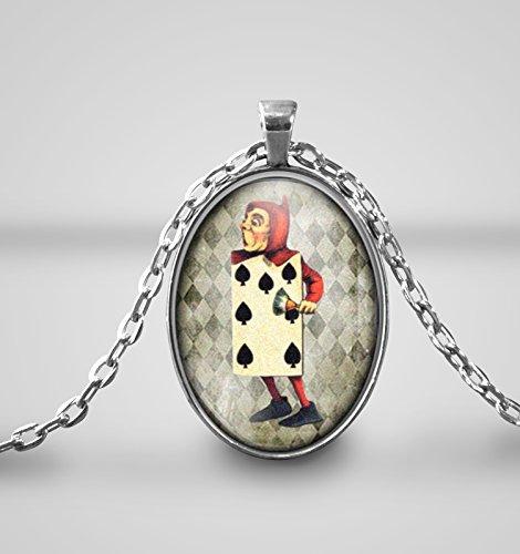 Spielkarten Soldat, Alice im Wunderland Cameo Halskette SIL ...