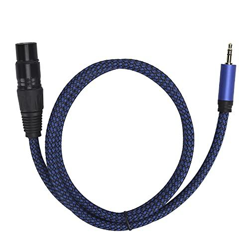 Zunate Cable XLR, XLR Hembra a Cable de micrófono Macho de 3,5 mm (1/8 Pulgadas), XLR a 1/8 de Pulgada Cable de micrófono de interconexión de señal equilibrada, Plug Play(3.3 pies)