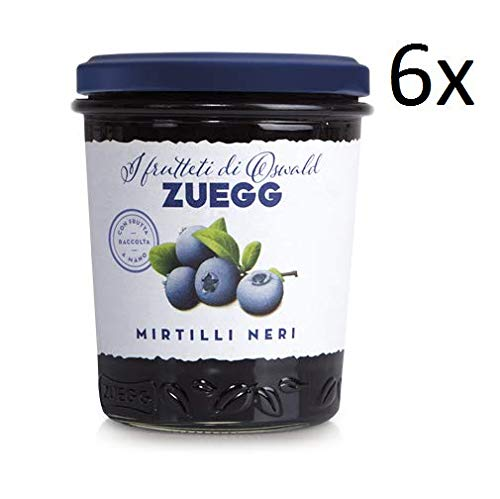 6x Zuegg Mirtilli Neri Marmelade Brombeeren Konfitüre Brotaufstriche Italien 320 g