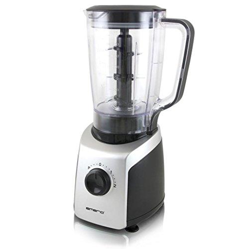 Emerio BL-108862.3 batidora de vaso, 800 W, De plástico, 2 Velocidades, Negro, Plata