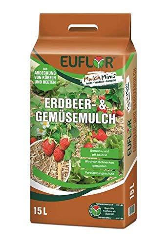 Euflor Mulch Mini Erdbeer- und Gemüsemulch 15 Liter Sack