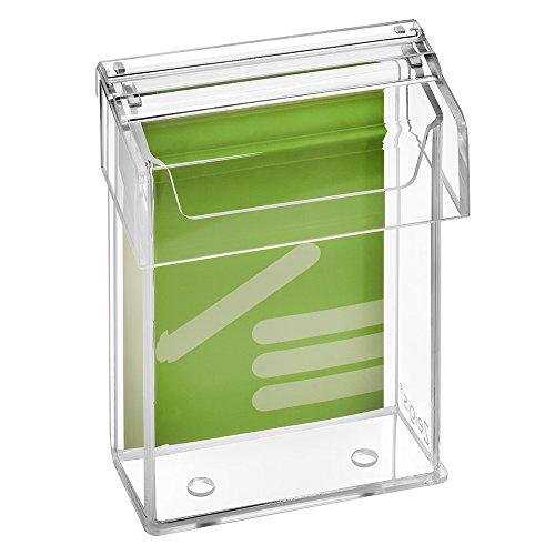 DIN A6 Prospektbox/Prospekthalter/Flyerhalter im Hochformat, wetterfest, für Außen, mit Deckel, aus glasklarem Acrylglas - Zeigis®
