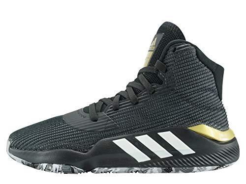 Adidas Pro Bounce 2019, Zapatillas de Baloncesto Hombre, Multicolor (Negbás/Ftwbla/Gricua 000), 46 EU