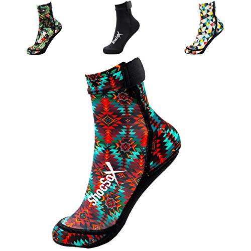 Best Beach Volleyball Socken, Sandsocken, Flossensocken und alle Strandsport-Socken. Play in Our Never Slip or Rip Secure Top Neopren-Socken Ganztagsüber, Baja Beach, Large