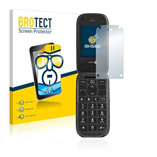 BROTECT Schutzfolie kompatibel mit Doro PhoneEasy 613 (2 Stück) klare Bildschirmschutz-Folie