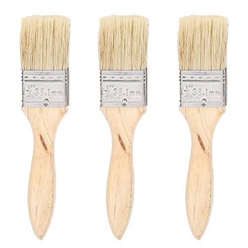 Cepillo de pintura, diseño aerodinámico, cómodo, 20 piezas, mango de madera, 1,5 pulgadas, cepillo para pintar paredes, barbacoa, cepillo para limpieza de grietas