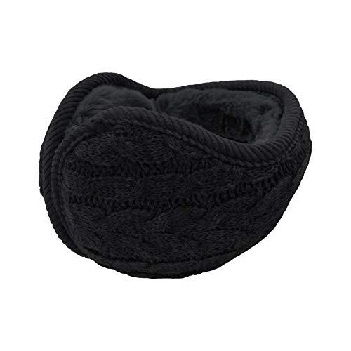 UPhitnis Strickwolle Ohrwärmer für Damen Herren | Winter Unisex Plüsch Ohrenschützer | Warme Faltbare Ohrenwärmer Earmuffs