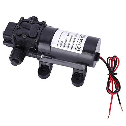 Bomba de agua de succión Mini bomba de diafragma FL3210H-80W Bomba de presión de aumento Salida de agua derecha de 10 mm para lavado de coches