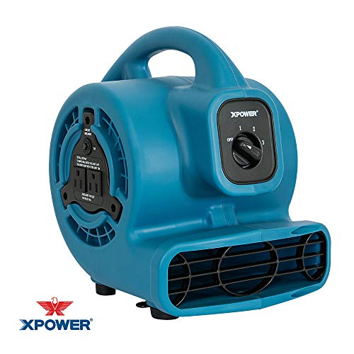 Our #6 Pick is the XPOWER P-80A Mini Mighty Air Mover (600 CFM)
