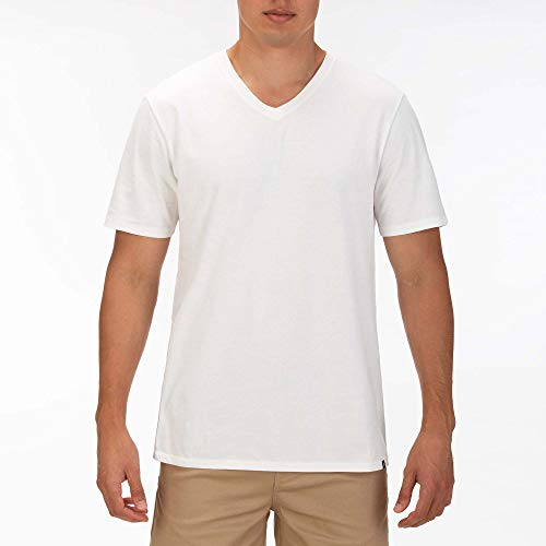 Hurley M V-Neck S/S Tee-Shirts Homme, White/Black/Black, FR : M (Taille Fabricant : M)