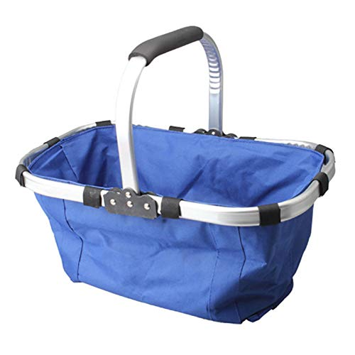 GSDJU Bolsa de almuerzo, cesta de la compra, moda, viaje de camping, cesta de picnic, cesta de picnic de gran capacidad, impermeable, plegable, ligera, ecológica, reutilizable, cesta de la compra