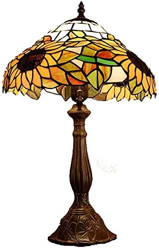 Ckssyao Lámpara de Mesa Retro Estilo lámpara de Mesa de Vidrio Sala de Estar Bar Dormitorio lámpara de Noche Estudio decoración Rural luz de Noche lámpara de Mesa 30 * 50 cm