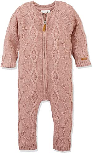 NAME IT Baby-Mädchen NMFWRILLA Wool LS Knit Suit NOOS Spieler, Rosa (Woodrose Woodrose), 92