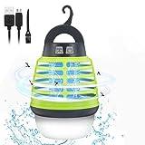 KINGSO Lampe Anti-Moustiques UV IP67 Lampe Tueur Électrique Moustique de Recharge USB, Piège à Insectes,...