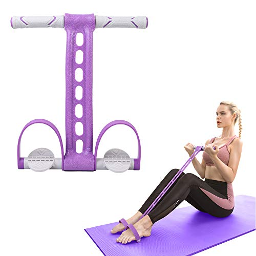 AIKOTOO Pedal Resistance Band Elastic Pull Rope Fitness Sit-up Exercise at Home Gym Yoga Workout Equipment Multifunction Pedal Arm Leg Trainer Slimming Bodybuilding Abdominal Training