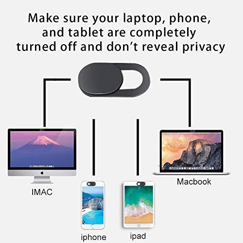 lululeague Webcam Abdeckung, Cover Kamera Laptop, 0.027 Ultra dünne Web Kamera Abdeckung für Computer Laptop, MacBook Pro, Smartphone, PC, Handyzubehör -Schutz Ihrer Privatsphäre Online (6 Stück)