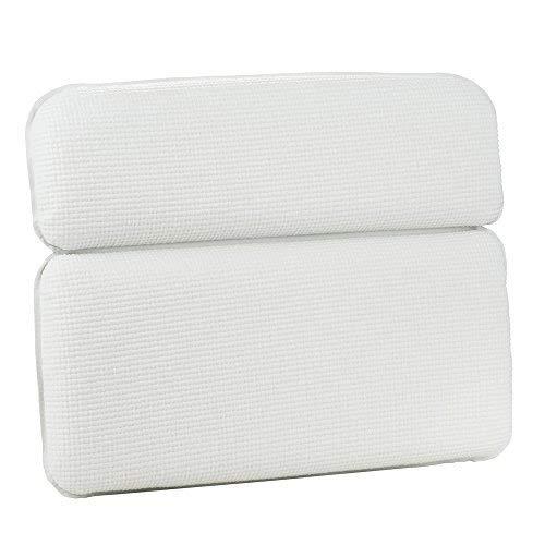 Scopri offerta per HALOViE Bath Pillow, Vasca da Bagno Cuscino con Forti Ventose Grandi di aspirazione Vasca Idromassaggio Cuscino per Il Collo Impermeabile Bath Pillow e 7 Ventose Resistenti e Ben fissate Bianco