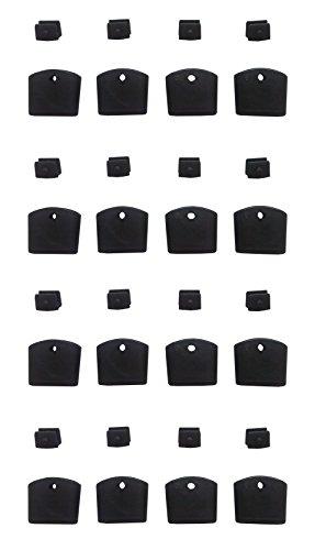 Lot de 16 Plastiques Pieds Chaise Modèle Romantique Noir
