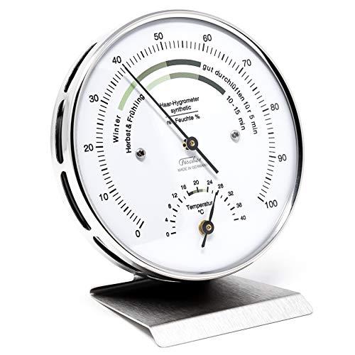 Fischer 122.01HT-01 Wohnklima-Hygrometer mit Thermometer, Manufaktur aus Deutschland