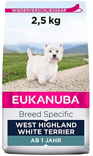 Eukanuba Breed Specific West Highland Terrier Trockenfutter - optimal auf die Rasse abgestimmtes Premium Hundefutter mit Huhn, 2,5 kg