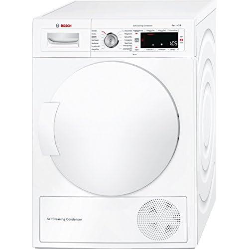 Bosch WTW845W0 A+++ Libera installazione 8kg Caricamento frontale Bianco asciugatrice